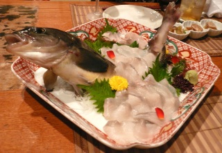 Enlarge the picture of sashimi of Hokke
