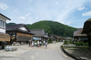 Enlarge the picture of main street of Ouchi-Juku